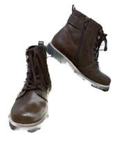 Cliffs Brown Lace up Booties by White Mountain 6.5M $100 Hiking Combat Boots