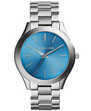 NEW MICHAEL KORS MK3292 LADIES TURQUOISE SLIM RUNWAY WATCH - 2 YEAR WARRANTY