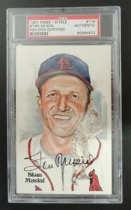 1981 Perez-Steele Hall of Fame 114 Stan Musial autographed PSA/DNA certified