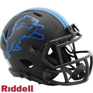 Detroit Lions Alt Eclipse Riddell Speed Mini Helmet - New in Riddell Box