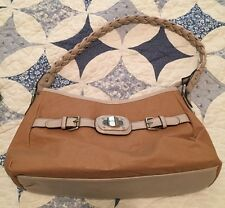 Rosetti Purse Handbag Camel & Beige with Faux Leather Strap