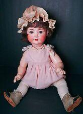 "Large Antique German bisque 24"" Heubach Koppelsdorf Baby Doll"