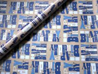 6 x Rolls Asda 2m Boys Mens Happy Birthday Party Wrapping Paper Gift Wrap