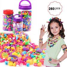 Diy Bracelet Craft Make Own Beads Jewellery Making Set Box Kit For Kids Gift Us