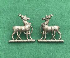 The Royal Warwickshire Regiment ~ Genuine British Army Military Collar Badges