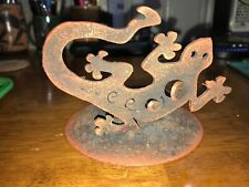 lizard iron candle tray holder
