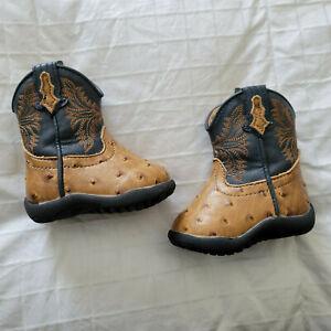 Roper Infant Cowboy Boots Sz. 2 Infant Brown