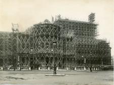 Paris, travaux de restauration à l'Opéra, rue Halévy Vintage silver print