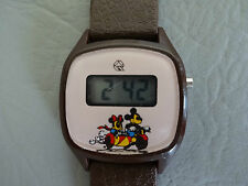 Q MICKEY MINNIE MONTRE BRACELET MARRON ENFANT GARCON FILLE DIGITAL LCD WATCH 80