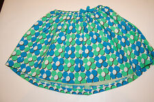 NWT Mini Boden Girls 3-4y Blue Green Floral Skirt New