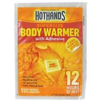 HotHands SUPER SIZE Body Warmers w/ Adhesive 1 3 6 12 24 Natural Odorless Heat