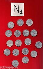 lotto 10 lire 17 monete 4 anni Italian coins 3 x 1955 5 x 1979 8 x 1981 1 x 1982