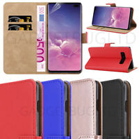 CASE FOR SAMSUNG GALAXY S10 REAL GENUINE LEATHER SHOCKPROOF WALLET FLIP COVER