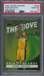 2002 Topps Chrome The Move # TM4 Kobe Bryant PSA 10 GEM MINT POP 5