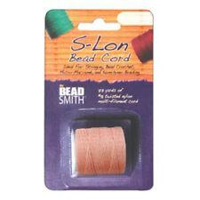 S-LON BEAD CORD TEX 210 1/CD CORAL PINK