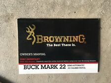 Browning Buckmark 22 auto pistol  owners manual