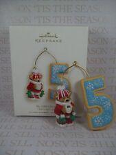 Hallmark 2008 Child My Fifth Christmas Ornament Age Bears Cookies Any Year DB