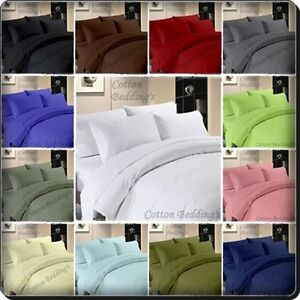 1000 TC 100% Egyptian Cotton UK Hotel Quality Items in All UK Size - Solid Color