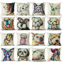 Gift Cushion Cute Cover Sofa Cover Home Dog Pillow Case Pet Decor Pillow Throw