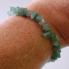Verde Aventurina Cristal curativo Chip Pulsera de abalorios