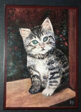 ACEO - YOUNG CAT - LIMITED EDITION PRINT 50-R.BOZZETTI--12-44