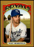 Whit Merrifield 2021 Topps Heritage 5x7 Gold #476 SP /10 Royals
