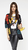 GUESS Women long knit cardigan with message