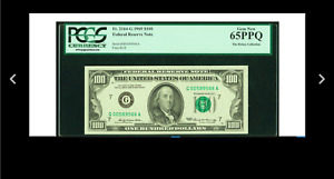 GEM LOW SERIAL # Fr. 2164-G $100 1969 Federal Reserve Note. PCGS Gem New 65PPQ