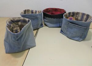Repurposed/Recycled denim baskets,Baskets are sold separetaly