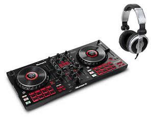 Numark Mixtrack Platinum FX 4-Deck DJ-Controller Set Jowheel-Display Kopfhörer