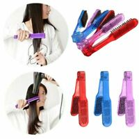 Girl Hair-styling Tool Hair Straightening Brush Double Clamp Comb Hairdressing^-