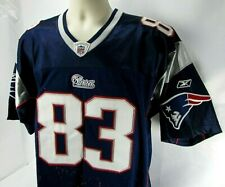 008bce07d REEBOK Onfield NFL Jersey Adult Size 48 WES WELKER 83 New England Patriots