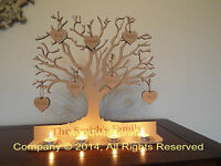 Personalised Tea Light  Holder - wooden family tree 32cm x 32cm by Woodworkcraft