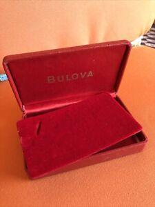 BULOVA vintage watch box, very nice!