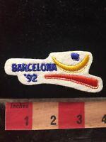 Vtg White Version 1992 BARCELONA '92 Catalonia Spain Patch - 1992 Olympics 79V3