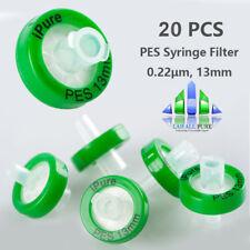 20pcs PES membrane Syringe Filter 0.22μm, 13mm Glass fiber Prefilter Hydrophilic