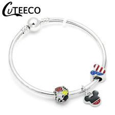 a5a65f1fe4d1a9 Bracciale braccialetto rigido donna con charm minnie e topolino
