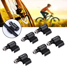 6Pcs Black Bicycle Cable Guide MTB Bike Brake Line Holder Clips Wire Adapter DY