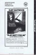 PLAY MISTY FOR ME - 1971 - CLINT EASTWOOD - Orig 20 Page Pressbook- NO CUTS!