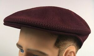 NEW WITH TAGS Kangol Tropic Ventair Large Driving Burgundy Golf Flatcap Hat