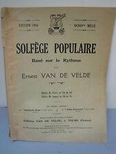 Solfège Populaire - Ernest Van De Velde - 1966
