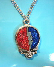 """Grateful Dead  Skull   - necklace , pendant 20"""" durable chain GIFT BOXED"""