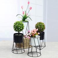 Iron Flower Pot Shelf Plant Rack Stand Nordic Geometry Succulent Home Decor