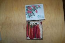 Antique Christmas tree candle clips and candles, set of 18, from early 1900s
