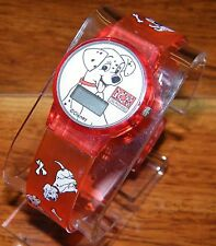 Walt Disney 101 Dalmatians Digital Red Plastic Unisex Wrist Watch Puppy Dogs