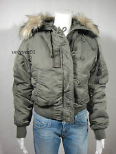New RALPH LAUREN Denim & Supply Military Hooded Bomber Jacket Army Green size M