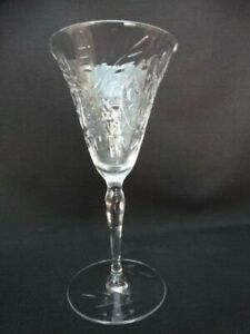 Seneca Clear Optic Wine Glass Polish Wheel Cut 786 (butterfly), Stem 190 EUC