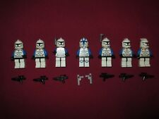 LEGO Star Wars Minifigures LOT, 501st Squad Clone Troopers & Weapons