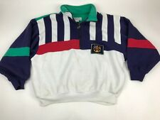 Vtg 90s WESTBOUND Sport Nautical Pullover Sweatshirt Anchor Color Block pocketsL
