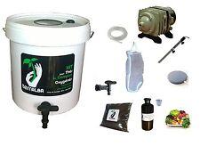 Komplett-Set 30L weiß für Tee Kompost belüftet : Pumpe Filter tea Kompost Brewer